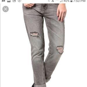 💙Miss Me boyfriend gray ankle cut jeans